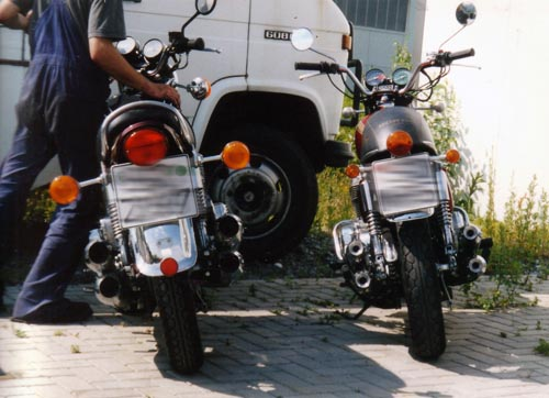 Kawasaki Z900 und Honda CB 750 Four