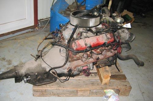 ausgebauter V8 Chevy Diesel Motor