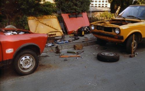 Reparatur auf der Strasse