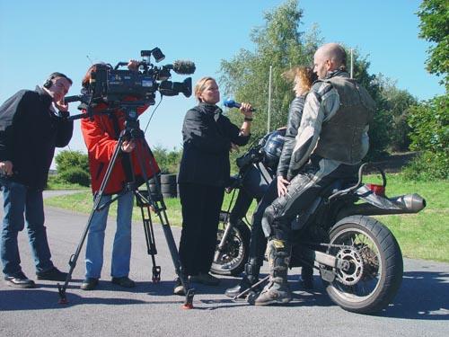 Stuntteam bei Filmaufnahmen