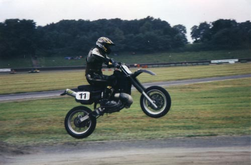 Supermoto mit Honda CR500